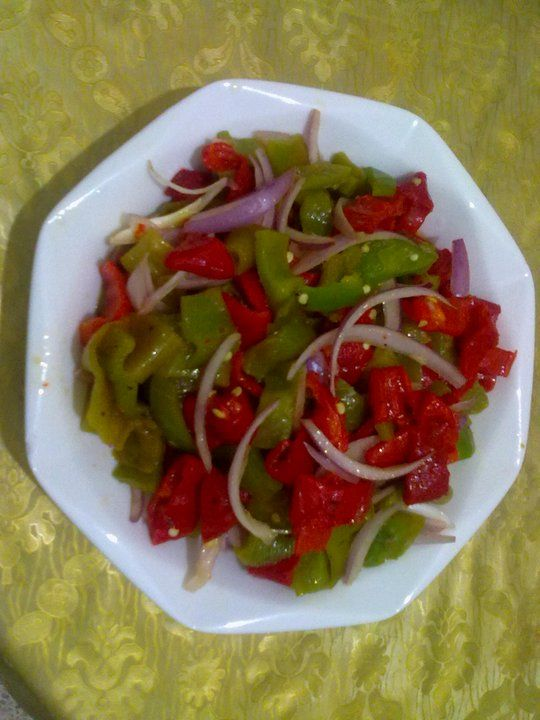Salade de poivron - Salade de poivron grille ...